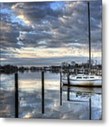 Blue Morning Reflections Metal Print by Vicki Jauron