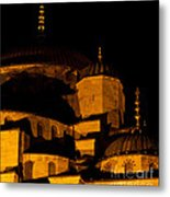 Blue Mosque At Night 02 Metal Print