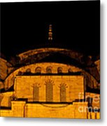 Blue Mosque At Night 03 Metal Print
