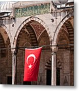Blue Mosque Courtyard Portico Metal Print