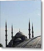 Blue Mosque Dome Behind Hagia Sophia Dome Metal Print