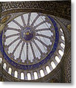Blue Mosque Dome Metal Print
