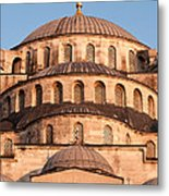 Blue Mosque Domes 02 Metal Print