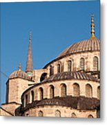 Blue Mosque Domes 07 Metal Print