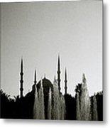 Blue Mosque Dusk Metal Print