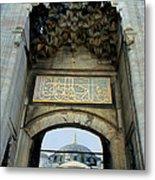 Blue Mosque Gate Metal Print by Eva Kato