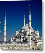 Blue Mosque In Istanbul Metal Print