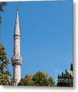 Blue Mosque Minaret 01 Metal Print