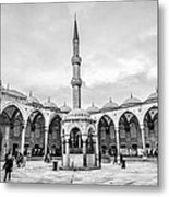 Blue Mosque Minaret Metal Print