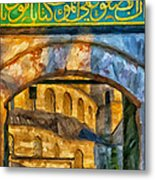 Blue Mosque Painting Metal Print