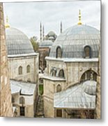 Blue Mosque View From Hagia Sophia Metal Print