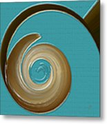 Blue Motion Metal Print