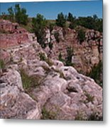 Blue Mounds Quarry Metal Print by James Peterson