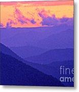 Blue Mountain Afterglow Metal Print