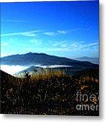 Blue Mountain Landscape Umbria Italy Metal Print