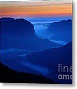 Blue Mountains Dawn Metal Print