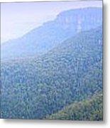 Blue Mountains Panorama Metal Print