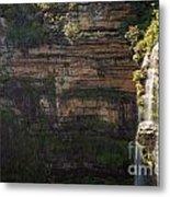 Blue Mountains Waterfall Metal Print