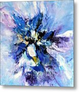 Blue Mystery Metal Print by Isabelle Vobmann
