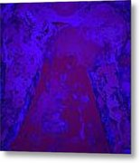 Blue Night Angel Metal Print
