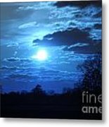 Blue Night Light Metal Print