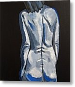 Blue Nude Self Portrait Metal Print