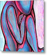 Blue Nude   Without Name Metal Print