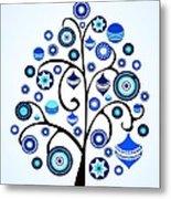 Blue Ornaments Metal Print