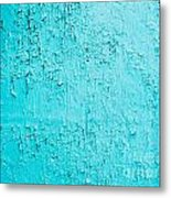 Blue Paint Background Grungy Cracked And Chipping Metal Print