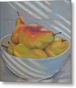 Blue Pears Metal Print