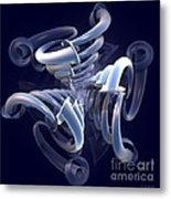 Blue Pipes Metal Print