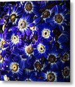 Blue Poem Metal Print