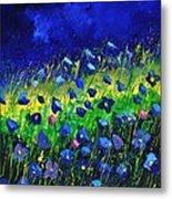 Blue poppies 674190 Metal Print