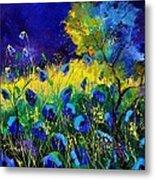Blue poppies 7741 Metal Print