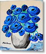 Blue Poppies Metal Print