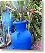 Blue Pot Metal Print