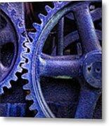 Blue Power Metal Print