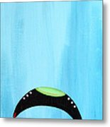 Blue Raspberry Ufo Metal Print