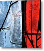 Blue Red And Blue Metal Print