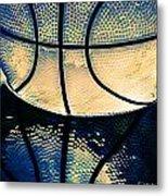 Blue Basketball Metal Print