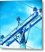 Blue Relay Metal Print by Wendy J St Christopher