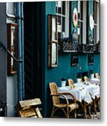 Blue Restaurant Metal Print