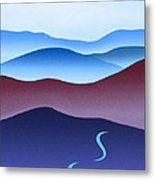 Blue Ridge Blue Road Metal Print by Catherine Twomey