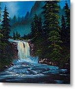 Mountain Falls Metal Print