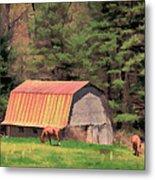 Blue Ridge Horses Metal Print