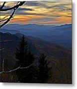 Blue Ridge Last Light Metal Print