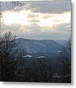 Blue Ridge Mountains In Winter Metal Print