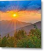 Blue Ridge Parkway Late Summer Appalachian Mountains Sunset West Metal Print