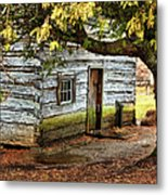 Blue Ridge Parkway - Mabry Mill Building In The Rain Metal Print