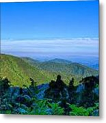 Blue Ridge Parkway National Park Sunset Scenic Mountains Summer  Metal Print